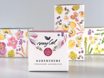 myCel Verpackungsdesign logo packaging design