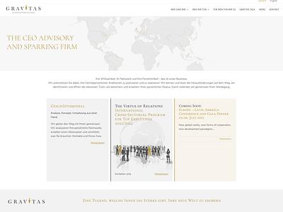 Gravitas Webdesign corporate design logodesign