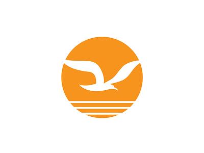 Seaside Logo seaside seagull sea logos logo design logo designer logo mark illustration illustrator branding minimal vector logo design