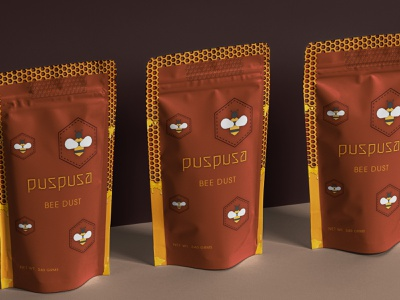 Branding - Puspusa dust productdesign eticket honeybee print product product design beelogo honey bee honey bee logos logodesign minimal logo designer logo logo design illustrator design branding
