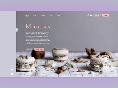 Yummy Macarons- Landing page design website minimalism xd design landing page design landing page landingpage website design web design webdesign web ux ui