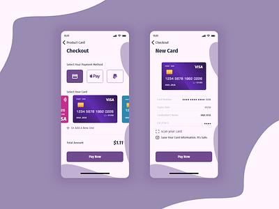 Credit Card Checkout Form #dailyui #002 application app design payment app apple app design app designs cards ui card payment method payment paypal color billing checkout ux ui illustrator design