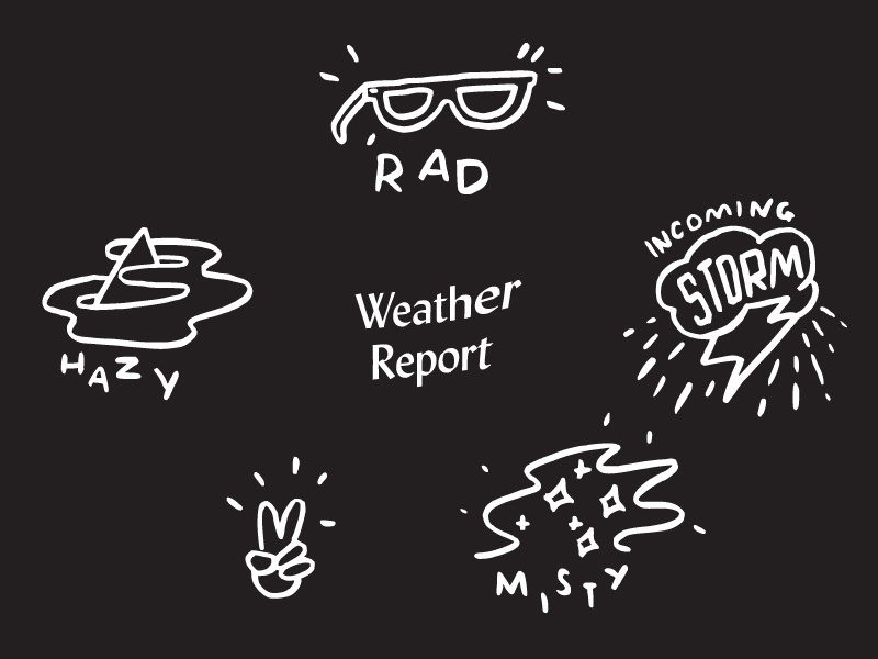 Weather Report stay hazy illustration meteorology