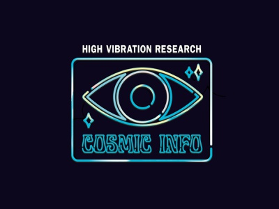 Cosmic Info neon high vibration new age hippy shit namaste be your own drum circle