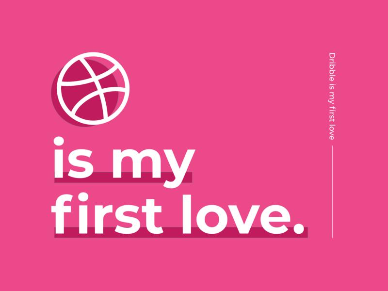 Valentine's Day typography illustration minimal logo vector branding ui design dribbble best shot submission love feb14 dribble