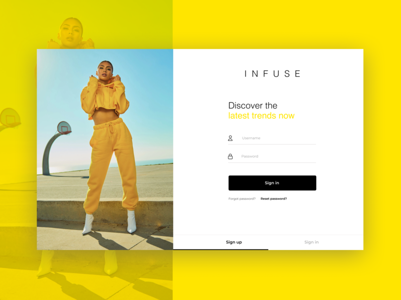 Sign in page - Fashion brand inspirations login signup fashion fashionbrand dailyui app website dribble branding ux clean minimal design uidesign signin ui