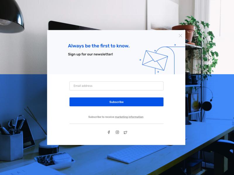 Newsletter Subscription Screen mail subscription newsletter startup dailyui uidesign app website dribble design minimal ux ui