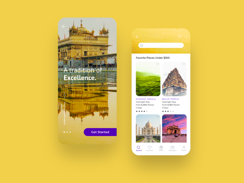"Incredible India "" Tourism App _ Redesign Concept bangalore android ios uichallenge tourism incredibleindia india colorful typogaphy xd dailyui uidesign app website dribble clean minimal design ux ui"
