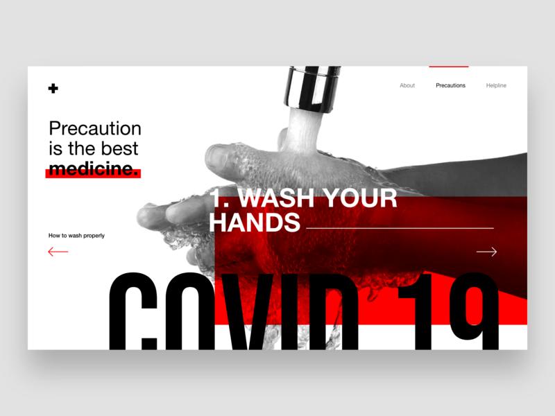 Corona Awareness Web UI uiux kerala india virus coronavirus figma uitrends dailyui app branding website dribble clean ux minimal design awareness covid19 corona ui
