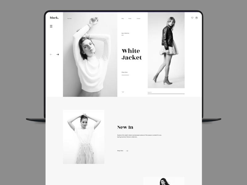 Black. Fashion store behance fashion app fashion uitrends xd figma dailyui uidesign branding app website dribble clean ux minimal design ui