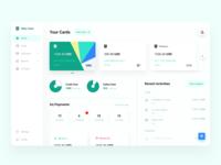 Banking Dashboard branding vector logo dailyui app website dribble clean minimal uiux dashboard ui