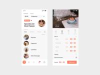 Minimal Coffee App layout coffeeapp coffee uidesign branding app website dribble ux clean design minimal ui
