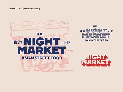 The Night Market Branding illustration typography logo design branding