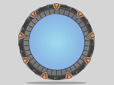 Stargate vector minimal illustration design ipadart ipadpro ipad keynote design illustraion