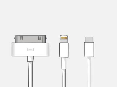 Cable evolution ipod 30 pin keynote ipadproart usb c usb lightning iphone ipadpro