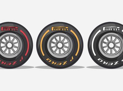 F1 Tyres types vector ipadart ipadproart ipad ipadpro illustration design