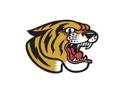 Tiger minimal illustrator branding tshirtdesign tshirt vector logo illustration design