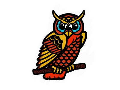 Three eyes owl flat illustrator branding tshirtdesign tshirt vector logo illustration design