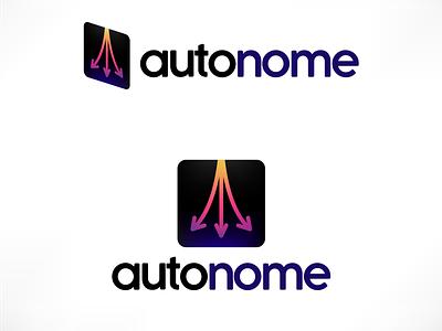 Autonome - Driverless Car Service Logo vector branding logo design illustration challenge daily ui daily logo dailyui