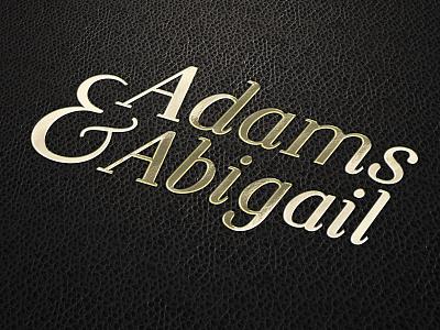 Adams & Abigail - Wordmark luxury logo branding logo illustration challenge daily ui dailyui daily logo