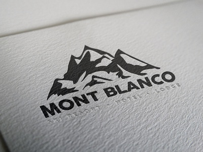 Mont Blanco - Ski Resort Logo icon typography vector design logo illustration branding challenge daily logo