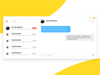 Cryptocurrency Chat Platform - Daily UI #013