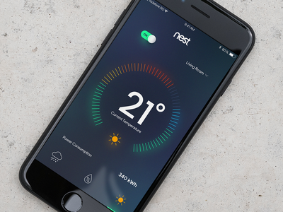 Home Monitoring Dashboard - Daily UI  #021 iphone dailyui thermostat monitoring home
