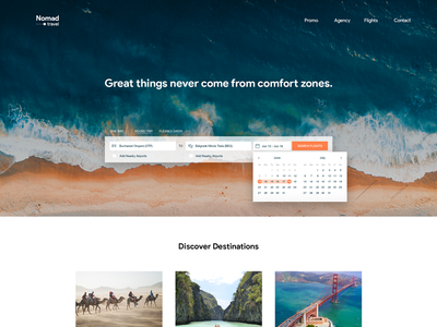 Search - Daily UI  #022 flights travel landing page dailyui search