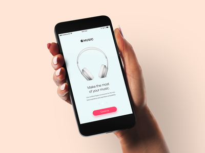 Onboarding - Daily UI  #023 apple music mockup iphone dailyui onboarding