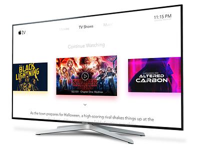 TV App - Daily UI #025 dailyui apple tv smart tv tv app
