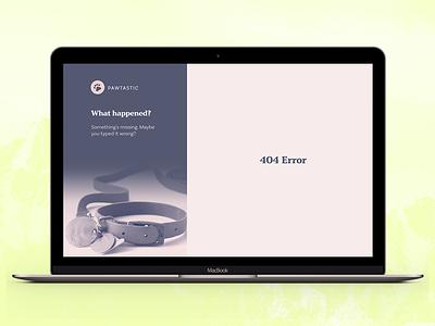 Pawtastic 404 Error #AdobeXDUIKit #contest contest entry pawtastic