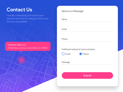 Contact Us - Daily UI #028 dailyui contact us