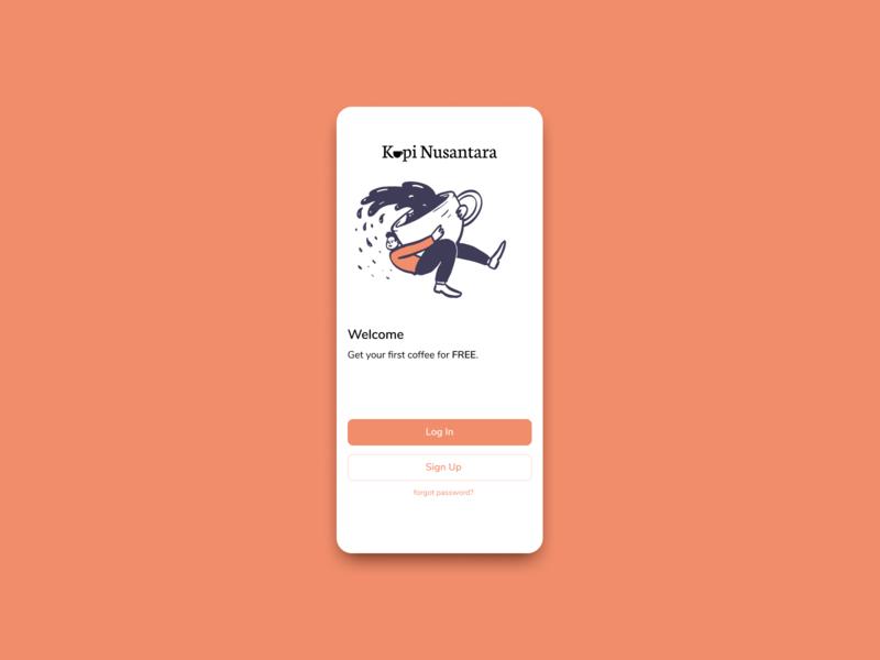 Welcome Screen Coffee App welcome screen 10ddc figma ui design mobile ui