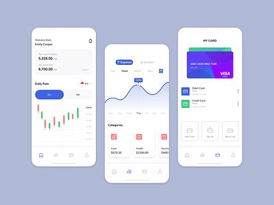 Banking App Exploration ui dlweek2 mobile app design figma mobile ui ui design