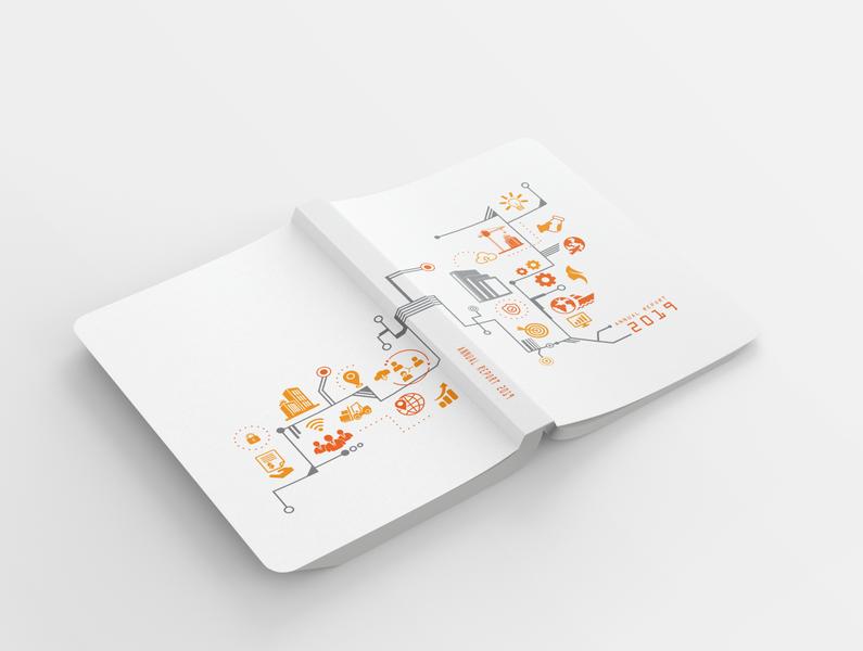 "Book Mockup - ""Annual Report 2019"" bookdesign illustration bookcoverdesign"