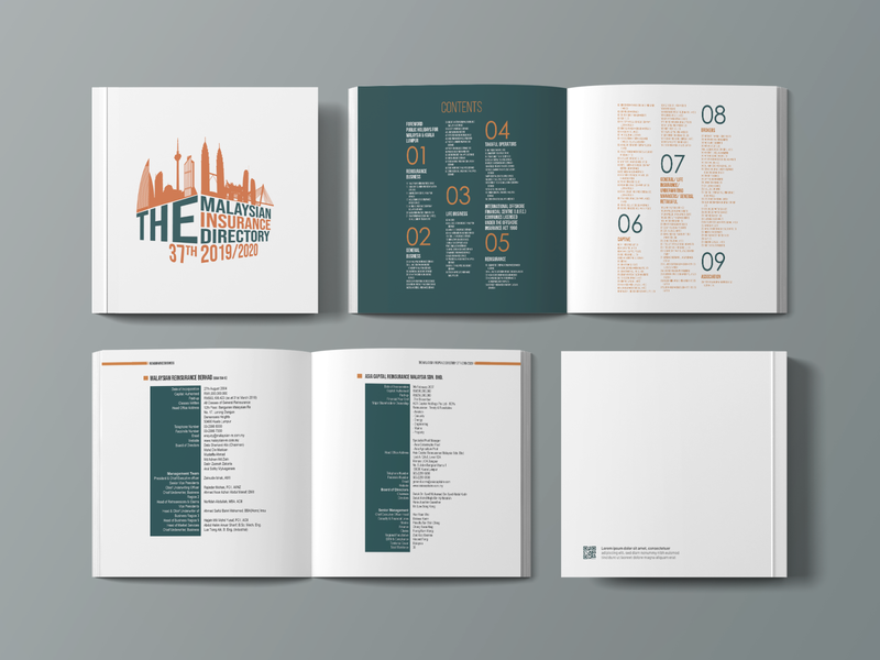 "Book Mockup - ""The Malaysian Insurance Directory"" bookcover illustration bookcoverdesign"