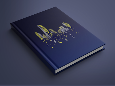 "Book Mockup -""Futuristic Building"" bookdesign bookcovers illustration bookcoverdesign"