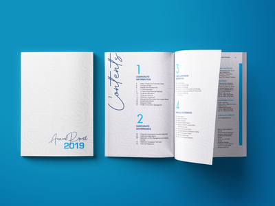 "Book Mockup -""Annual Report 2019"""