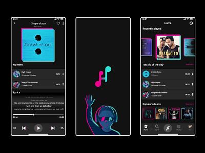 Mobile App Ui | Ios invite music player musicapp music design project behance dribbble android app uxui uiux ui ux ios mobile