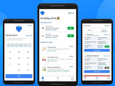 Bank App -  Mobile #1 app adobe mobileapp color dribbble invite art design uiux ui uxui ux ios android mobile loanapp loan bankapp bank