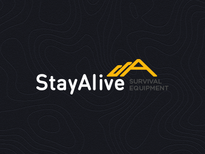 StayAlive Logo logo mountain outdoor extreme survival equipment nature