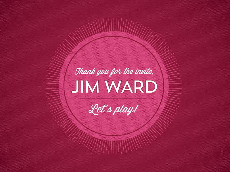 Thank you, Jim, happy to be drafffted! thank you trend sans invite wisdom script
