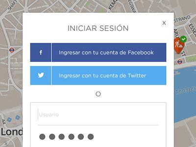 Login Barrios Activos user password sing in register login web barrios activos ux ui