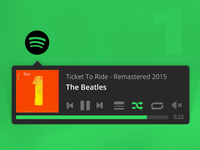 Spotify Menu Bar App