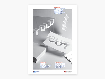 Fold / Cut – Poster constructed crafts paper bw black and white photograph still life poster typography