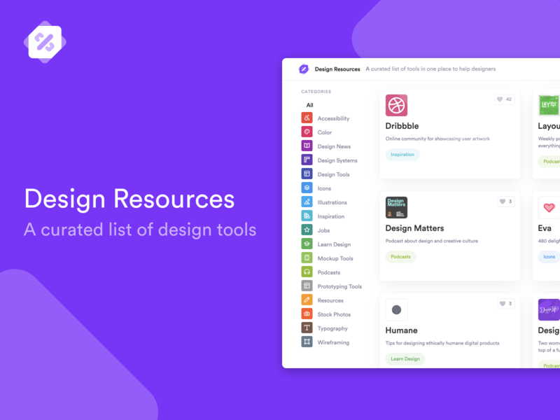 🎉 Introducing Design Resources - now on Product Hunt! ui kits resources tools design tools design resources