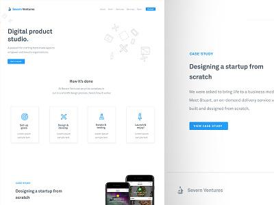 Website Design for Severn Ventures website design severn ventures