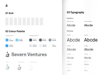 Brand Guidelines - Severn Ventures colour scheme style guide severn ventures brand guidelines