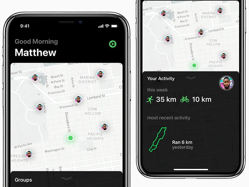 iOS 11 Activity App - WIP app design ios design activity app ios 11