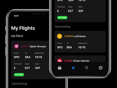 Flights App app ios ios 11 airport flights upcoming flights flight tracker